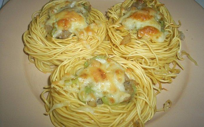 Блюда из вареных макарон