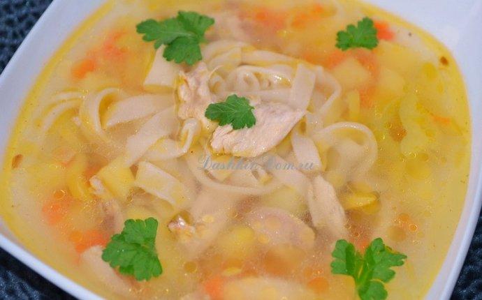 куриный суп с лапшой рецепт с