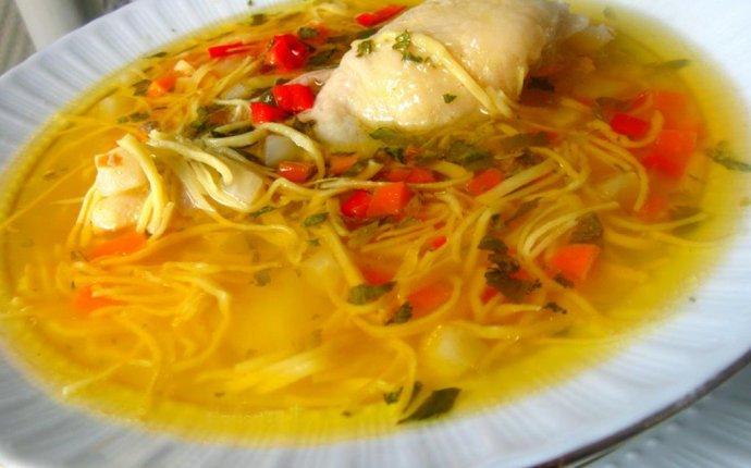 Рецепт супа лапша домашняя с
