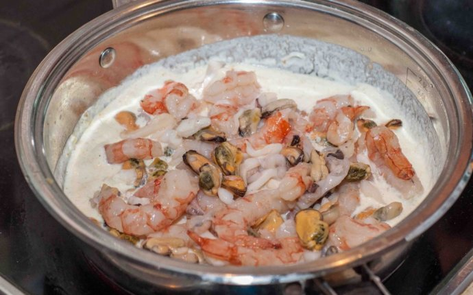 Паста с морепродуктами в