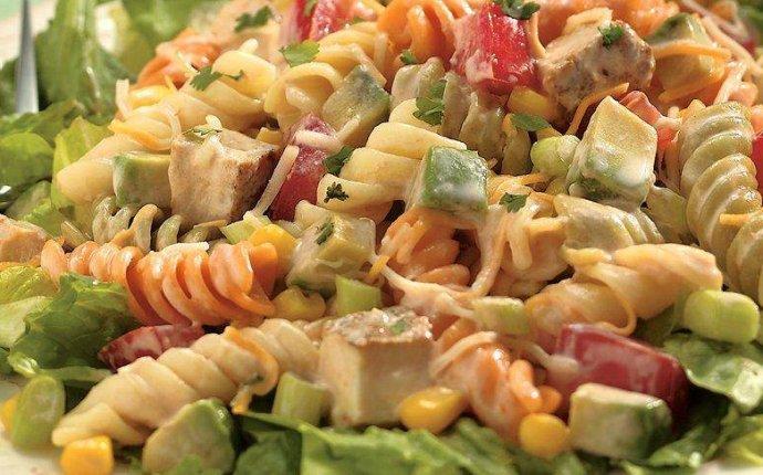 Рецепты салатов с макаронами с